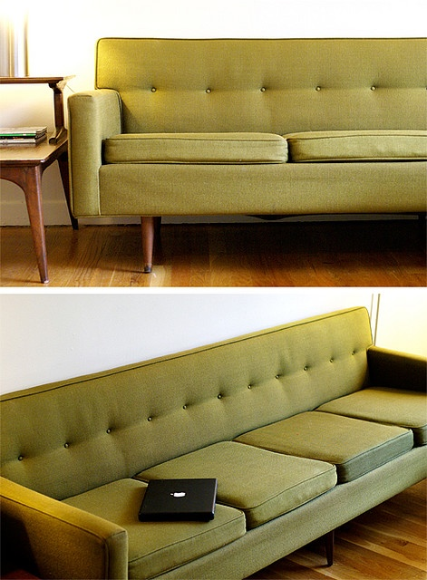 by ali smith vintage couch with mackbook