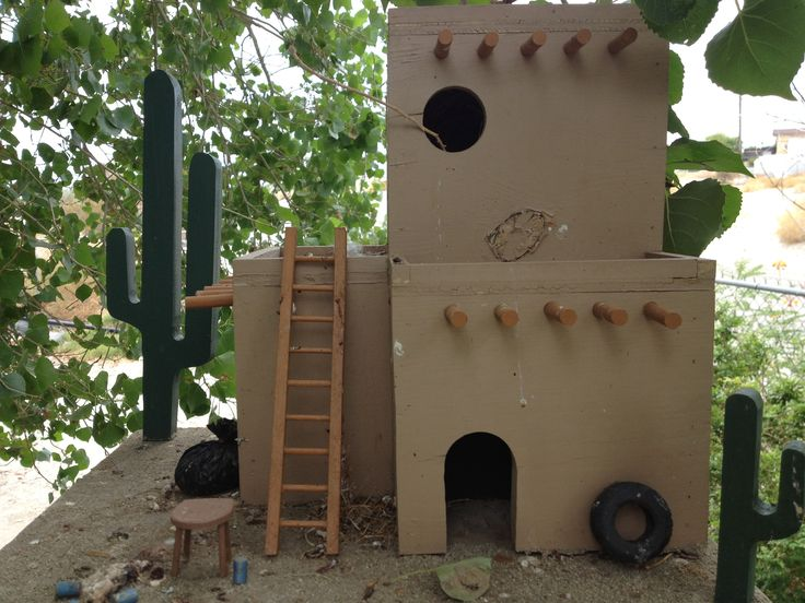 Adobe Mexican Bird House