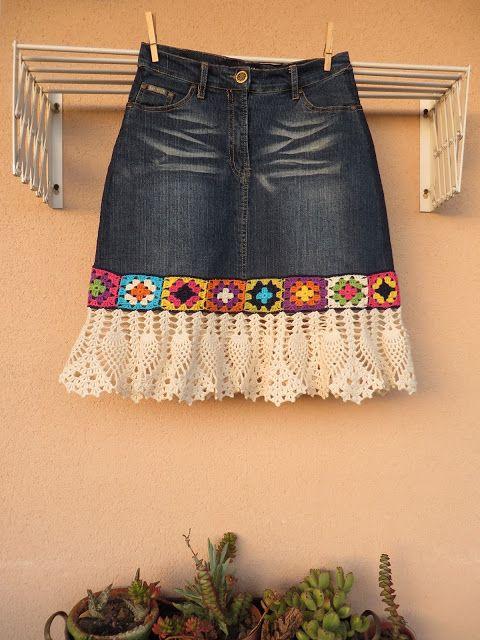 переделка джинсовой юбки