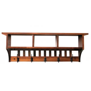 mission cubby coat rack shelf wall mounted custom available 3 hook oak wood michaels stain click image for more details