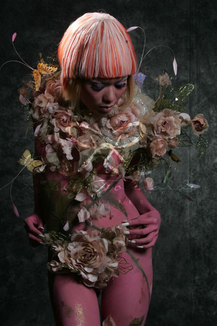 #ruslytjohnardi #ruslytjohnardiatelier #couture #rosette #corsage #floral #pink #fashion Photographer Marsio Juwono   Makeup & Hair by Willy Wahyudi