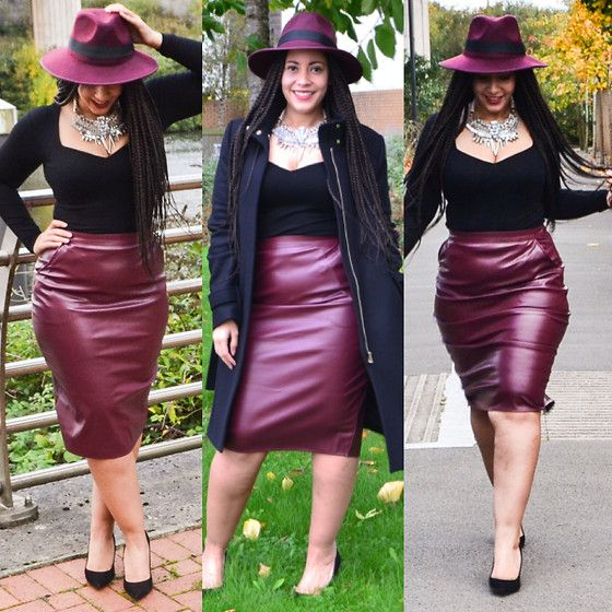 Missguided Hat, Missguided Faux Leather Pencil Skirt, Asos Long ...