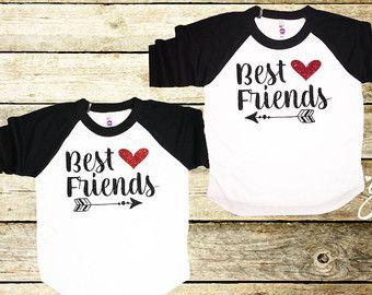 Camisas de amigos camisa de mejores amigos por Gratefulheartapparel