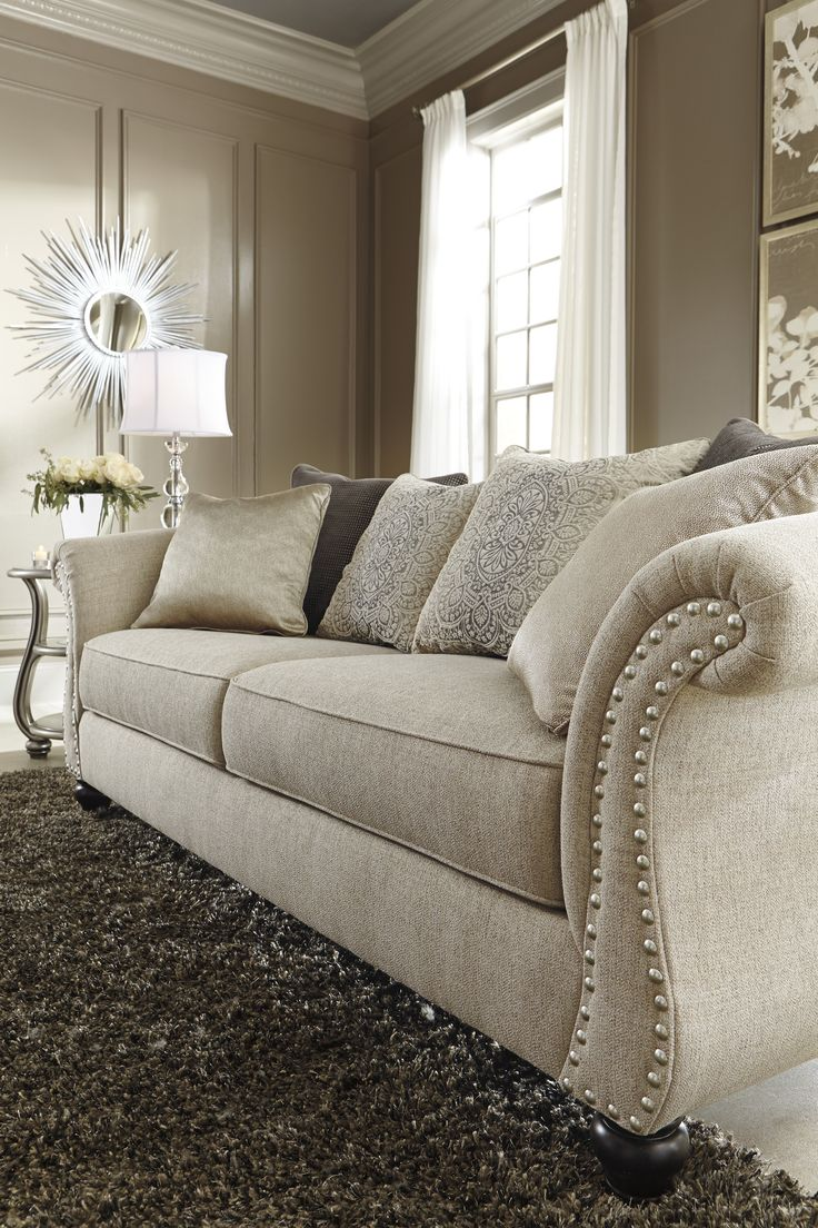 Details of the Ashley HomeStore Lemoore sofa... simply stunning.