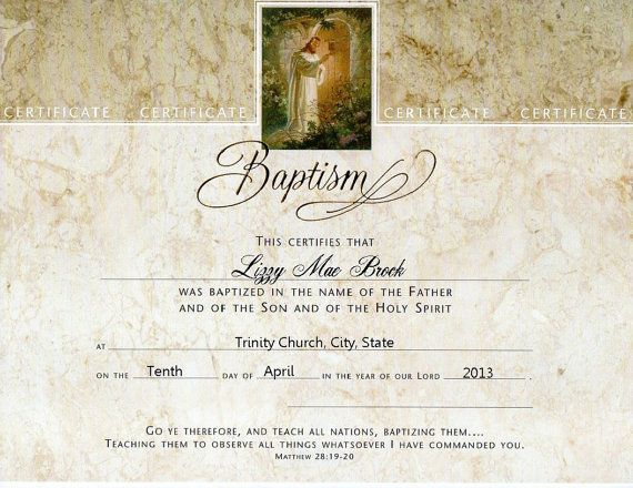 13 best baptism images on Pinterest Office ideas, Bible crafts - sample baptism certificate template