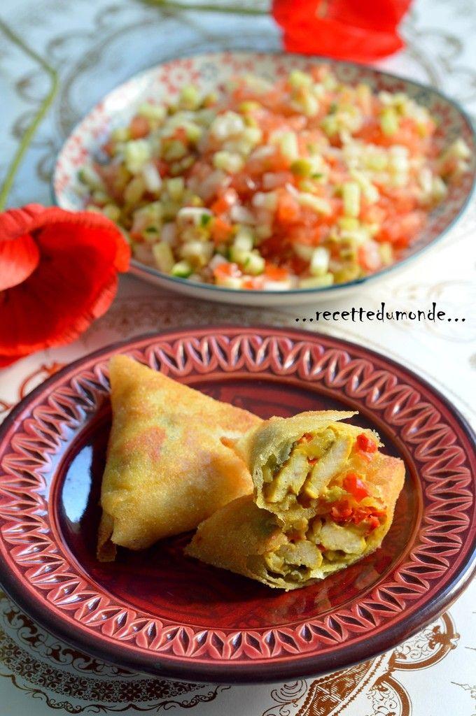 Briouates - Brick poulet poivrons curry