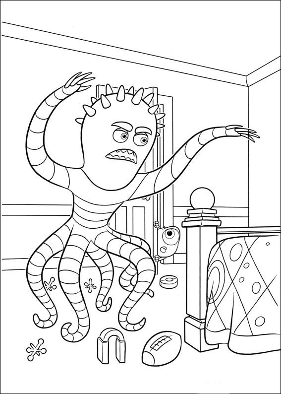 69 best monsters incuni colouring pages images on Pinterest