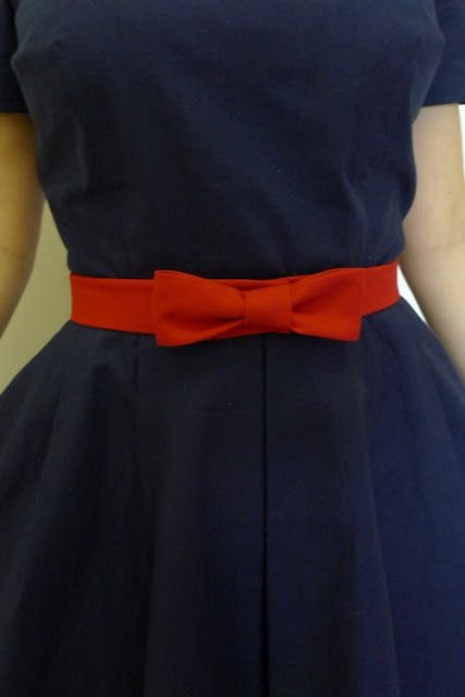 Tilly and the Buttons: Bow belt tutorial #sewing #diy