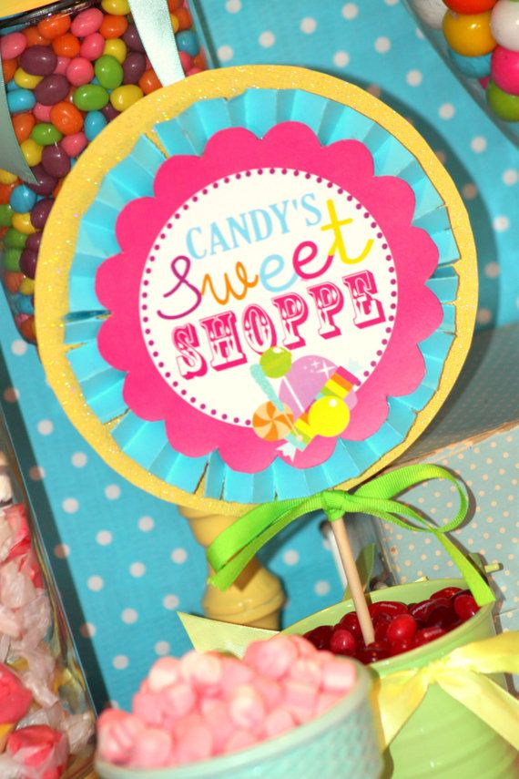 SWEET SHOPPE Circles -  Candyland / Bubble Gum/ Lalaloopsy Party / Candy Land/ Sweet Shop Party/ Lollipop/ Girl Birthday  - Krown Kreations
