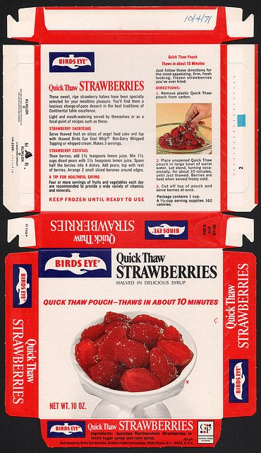 General Foods Birds Eye Quick Thaw Strawberries - October 4 1971 | Flickr - Photo Sharing!