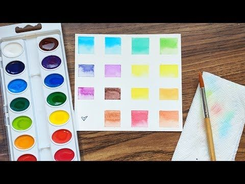 Getting To Know My Paint Crayola Watercolor Swatches Watercolor