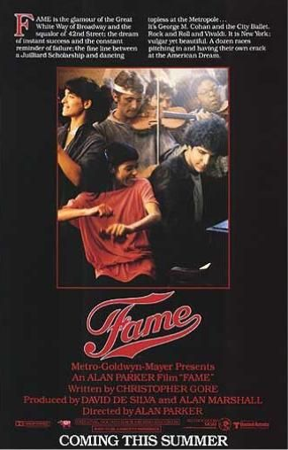 Fame (1980): The movie Fame follows a group of students through their studies at the New York High School of Performing Arts.