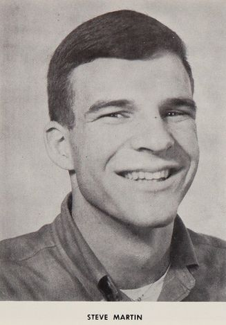 #HappyBirthday Steve Martin (August 14, 1945) - click to view his 1963 Garden Grove High School #yearbook! #SteveMartin #HighSchool #FatherOfTheBride #Roxanne