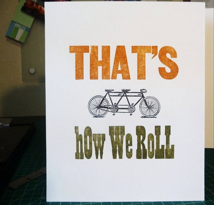 roll on, then: Letterpress Work, Classic Wood, Wood Type, Bikes For, Jeff S Stuff, Design, Bicycle