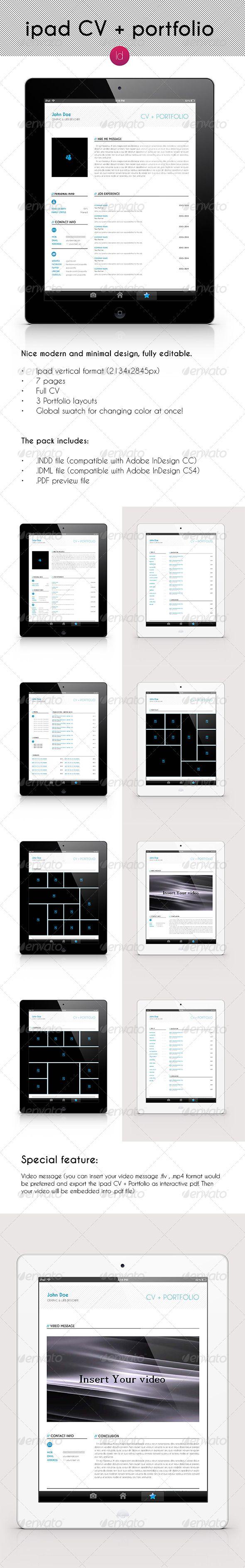 iPad CV + Portfolio