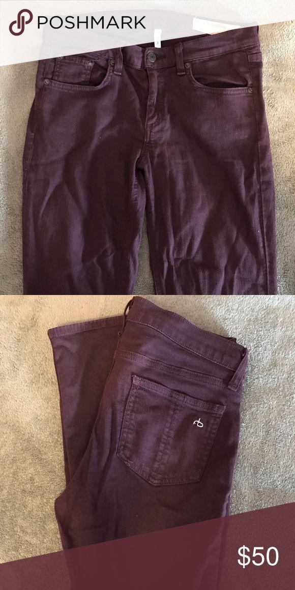 Rag & Bone purple skinny jeans Dark purple high rise Rag & Bone skinny jeans. Great condition, worn 2 times. rag & bone Jeans Skinny