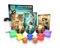 Wish   Country Heat Dance & Fitness DVD Package 4pc Workout DVDs + Portion Control 7 Piece Container Kit+One Protein Shaker Bottle Weight Loss