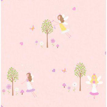 Love this wallpaper for little girls bedroom