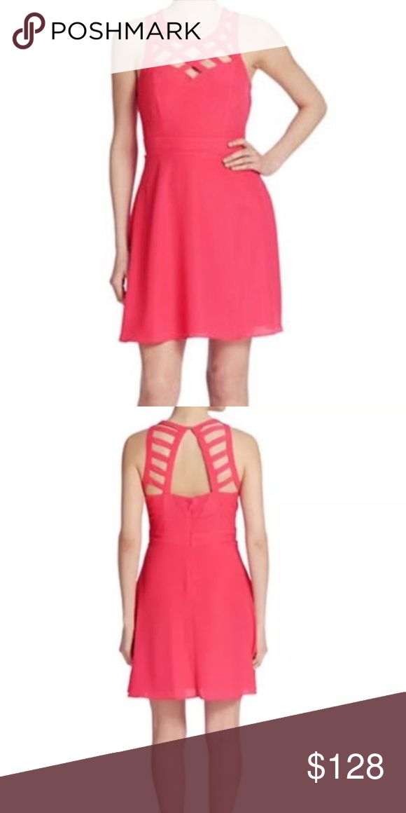 Coming Soon! Guess Dress Guess  Lauren Dress Raspberry/Pink New with Tags $128 Size 0  Lined  Polyester Guess Dresses