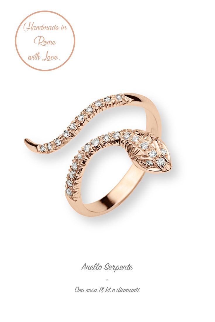 #anello #ring #pinkgold #fashion #cool #precious #lunatica #lunaticacool #lunaticagioielli #gioielli #snake #serpente #diamods #trend #2016 #easytowear #madeinitaly #handmade