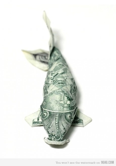 265 best images about origami on pinterest dollar bill for Dollar bill koi