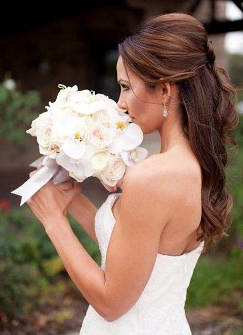 28 Awesome Wedding Half Updos | HappyWedd.com