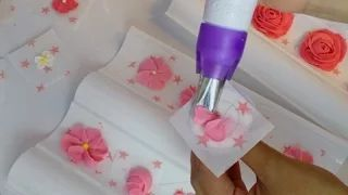 flores con royal icings - YouTube
