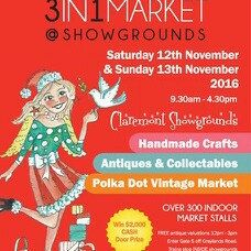 Join us for lots of fun at the 3in1 Market 12 & 13 November, Claremont showgrounds.