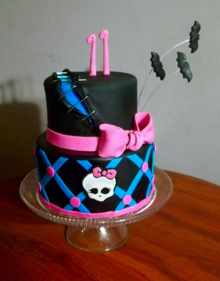 My Daughter S 11th Birthday Cake Monster High Theme We