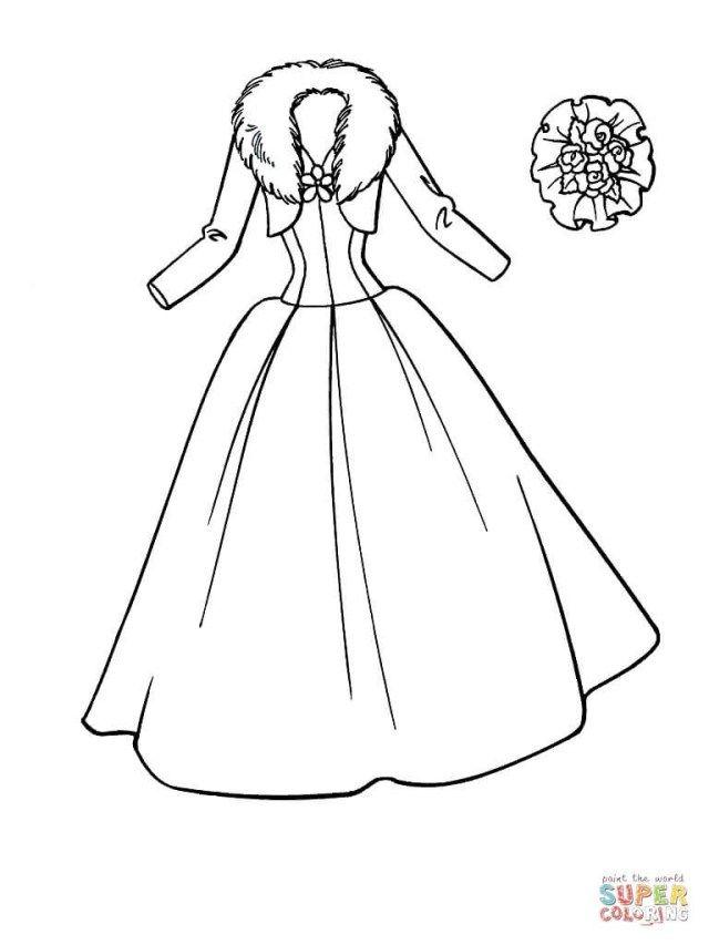 25 Creative Picture Of Dress Coloring Pages Entitlementtrap Com Barbie Coloring Pages Wedding Coloring Pages Coloring Pages For Girls