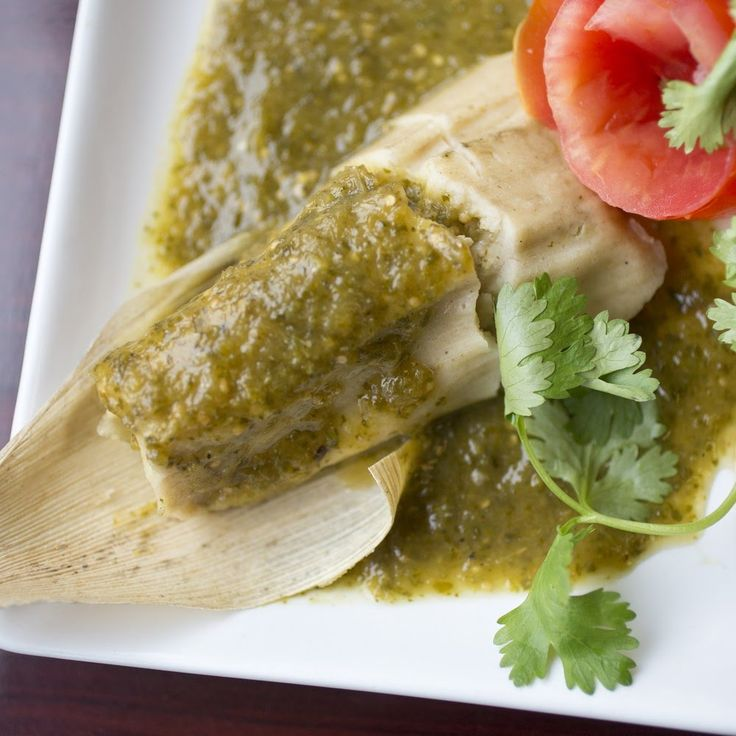 """Tamales con Salsa Verde y Pollo: Green Chile Chicken Tamales - Masa labeled """"masa preparada para tamales"""" often contains baking powder and salt, so don't add either if it does. Soak the husks three hours ahead or overnight."""