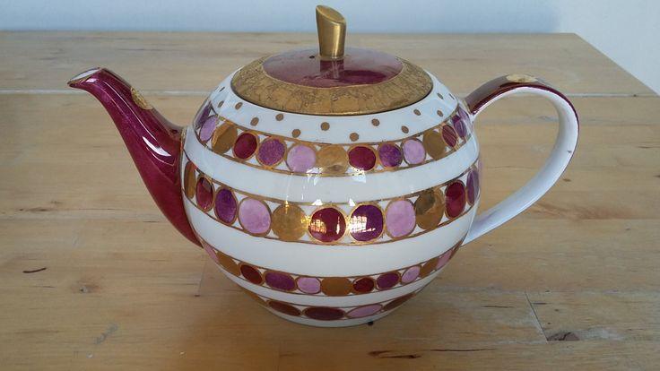"""Teiera in ceramica dipinta a mano, made in italy """"Mrs. Bric"""" di Scialaba su Etsy"""
