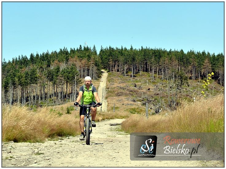 Green trail from the top of Małe Skrzyczne to the top of Kopa Skrzyczeńska in Silesian Beskid Mountains.  Link: http://rowerowe-bielsko.pl/turystyka-rowerowa/wycieczki/2013/03082013/