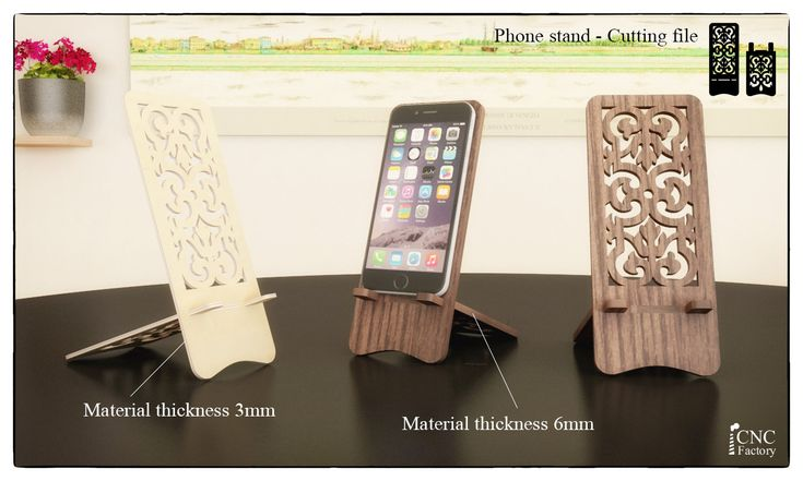 PHONE STAND  Laser cutting template plans  wooden iphone