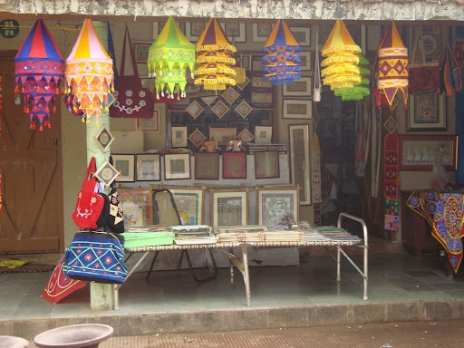 Shopping at Ekamra Haat, beautiful array of Handicrafts.