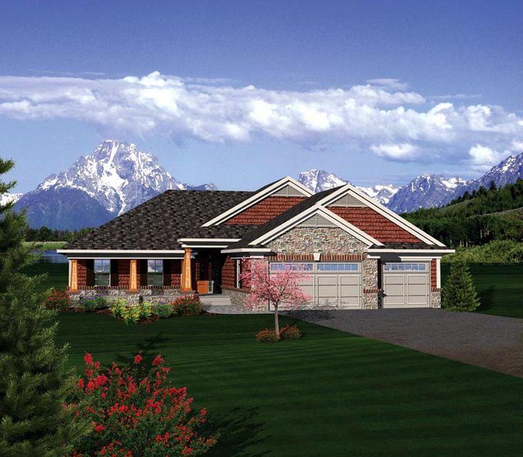 Best HOUSE PLANS SQ FT Images On Pinterest - Craftsman house plans with 3 car garage