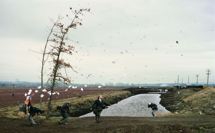 jeff wall - sudden gust of wind after hokusai