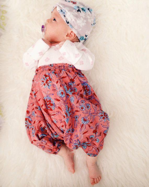 Organic baby harem pants, unisex baby leggings, children's leggings, tribal baby, hippie baby, bohemian baby, ikat baby, shower gift