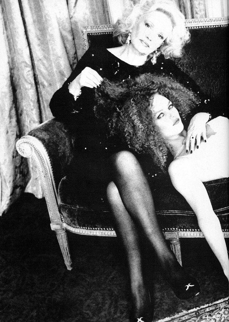 Vanessa Paradis & Jeanne Moreau by Ellen von Unwerth for Elle
