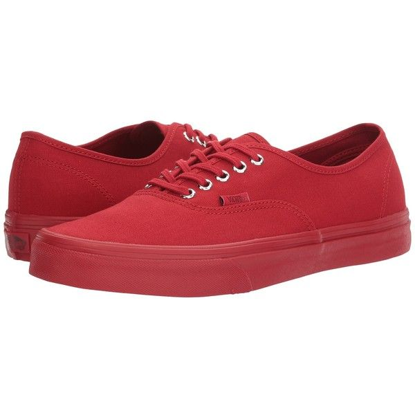 Vans Authentic ((Primary Mono) Red/Silver) Skate Shoes ($50)