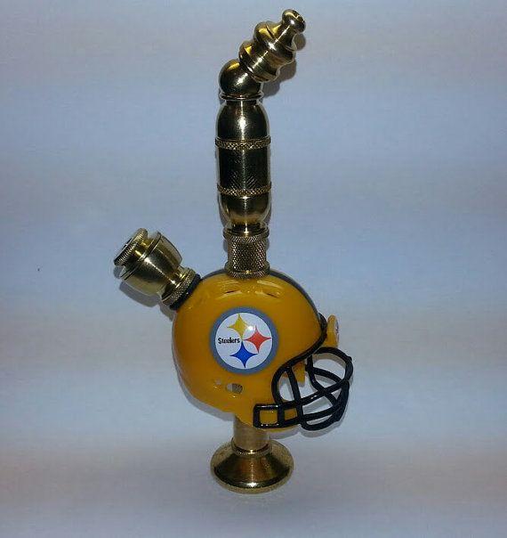 Pittsburg Steelers Helmet Pipe Throw Back Brass by DCHelmetPipes