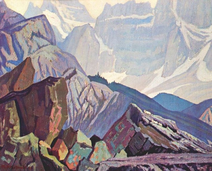 J. E. H. MacDonald Goat Range Rocky Mountains - 1932