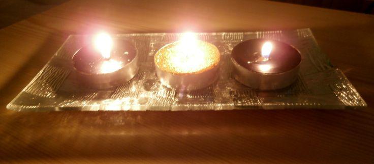 Zimní večer při svíčkách
