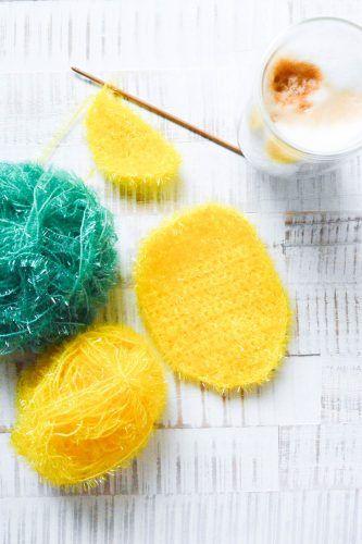 Ananas Schwamm Handarbeit Pinterest Crochet