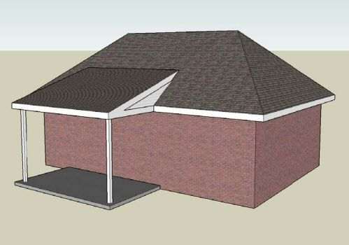 Example Of A Typical Shed Roof With Roof Tie In On A