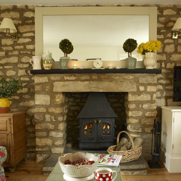 The cosy wood burner in our sitting room at two chapel lane.