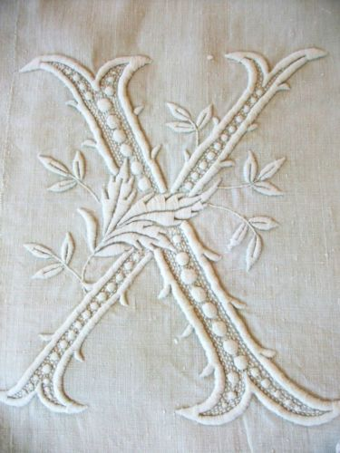 Large-Bed-linen-19th-linen-to-lace-jours-and-superb-monogram-034-BX-034