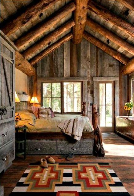 log cabin | Tumblr-bedroom