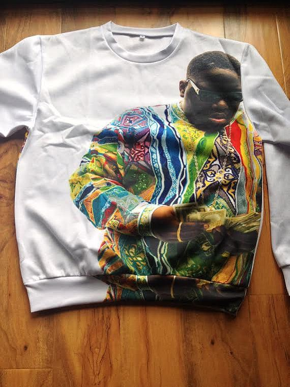 Biggie Smalls Crewneck Sweater Sweatshirt by YeahWhateverz on Etsy, $59.87