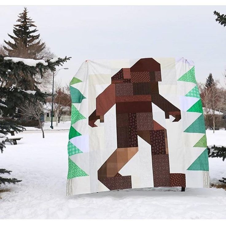 """EXTRA, EXTRA, read all about it!! There's been a big foot sighting!  http://naptimequilter.blogspot.com/2016/01/absolutely-legendary-sasquatch-quilt-top.html"